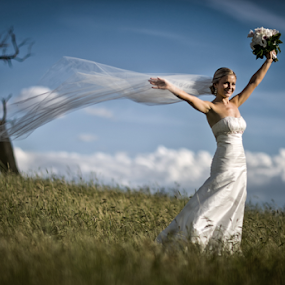by Lindsay James - Wedding Bride ( girl, woman, white-gown, bride, pretty )