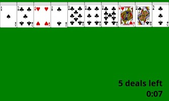 Screenshot of Card Game - Solitaire