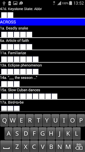 Crosswords US Style : ACE Vol1 2.1 screenshots 1