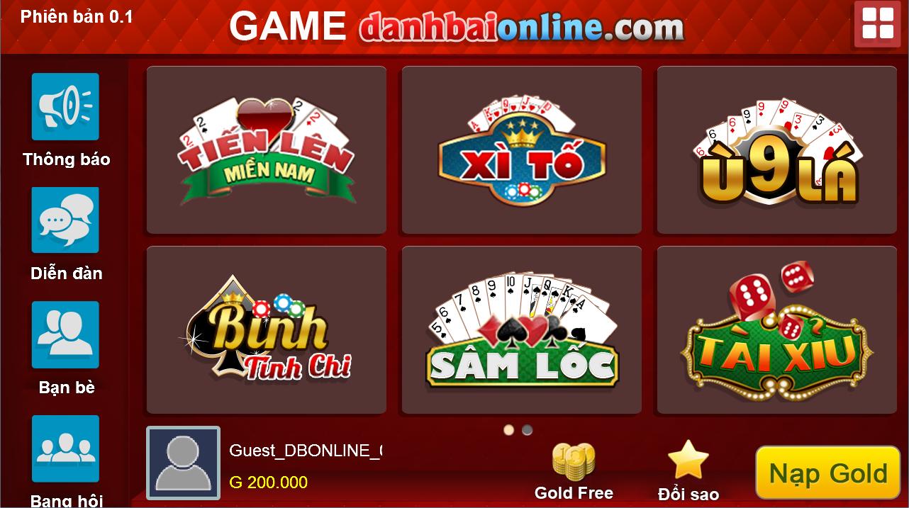 Game đánh bài online