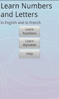 Screenshot of French/English:Numbers/Letters