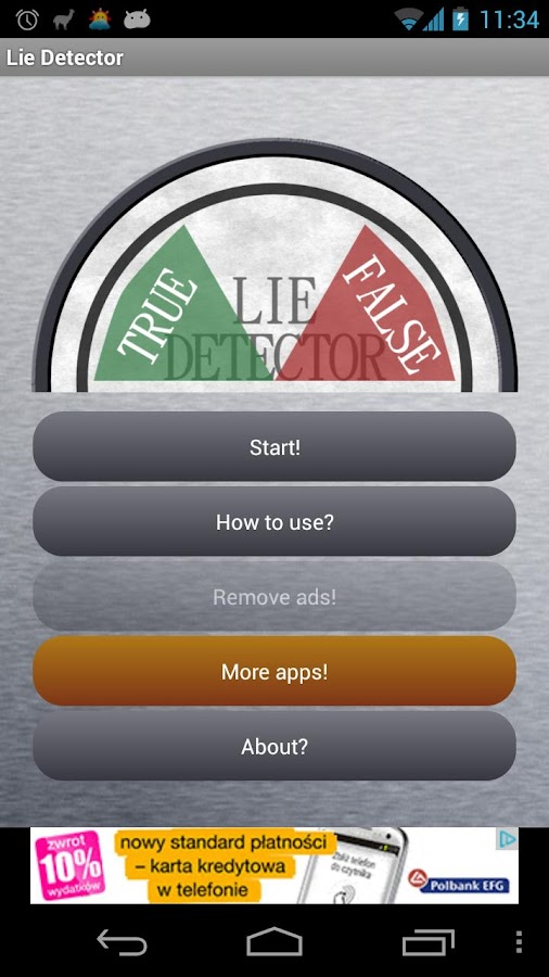Lie Detector (True or False) - screenshot