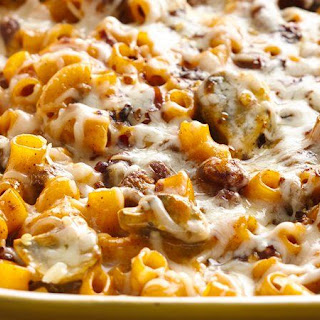 Jamie's Chili Cheese Spaghetti Bake