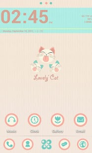 T-LOVELY CAT GO LAUNCHER THEME - screenshot thumbnail