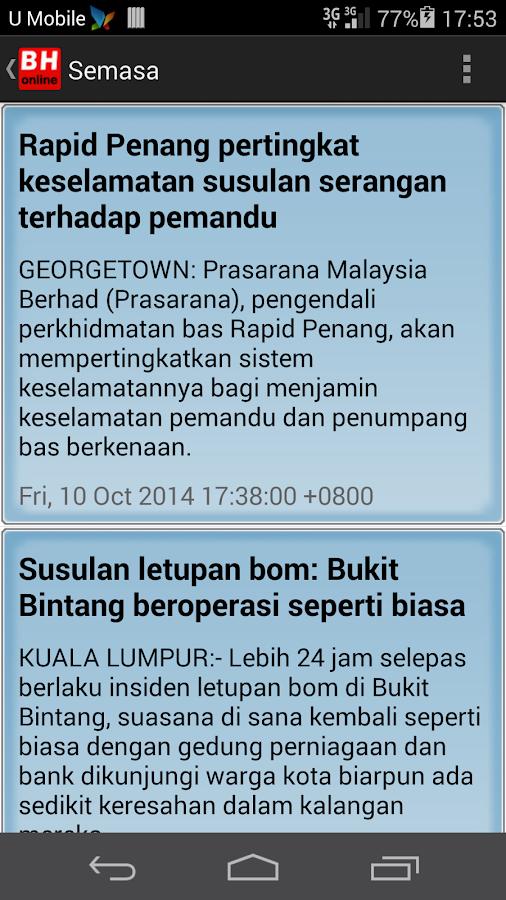 Berita Harian Online-Malaysia - screenshot