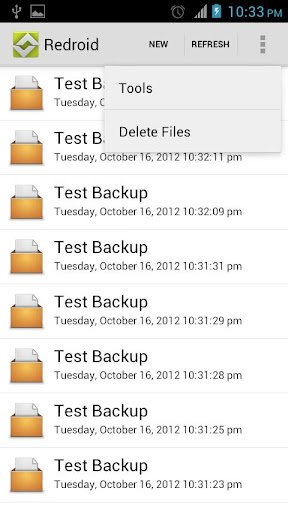 Re-droid : Backup and Restore
