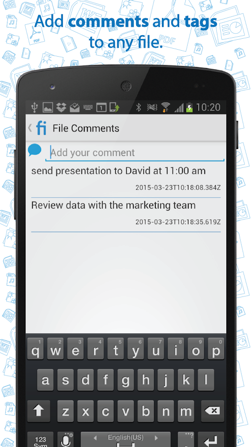 Mobifile- screenshot