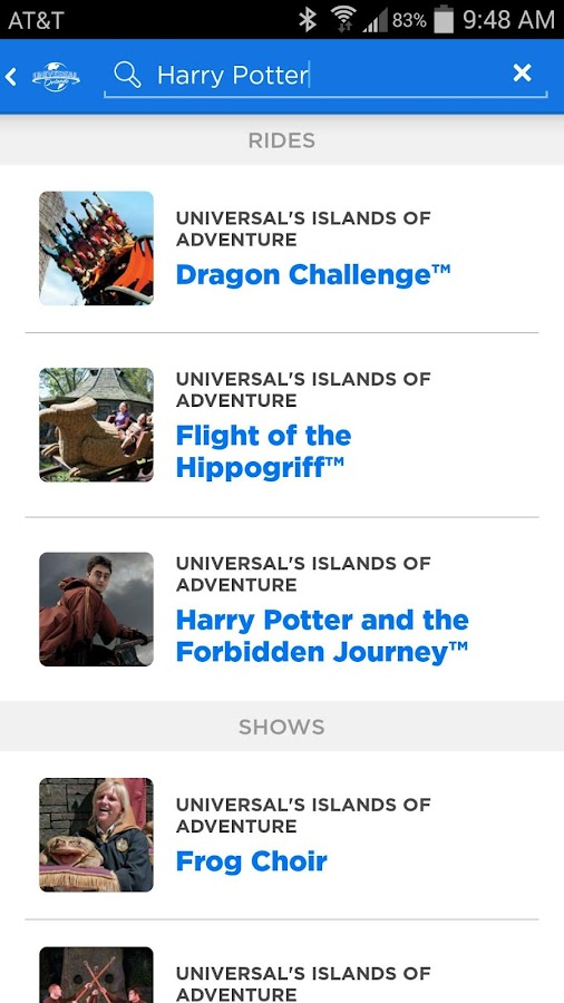 Universal Orlando® Resort App- screenshot
