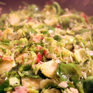 Brussels Sprouts with Pancetta and Shallots.