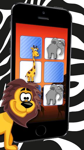 야생 만화 동물 퍼즐 게임