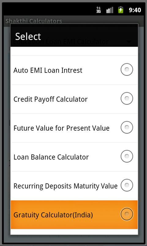 Finance Calculators- screenshot