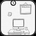 work room GO launcher theme