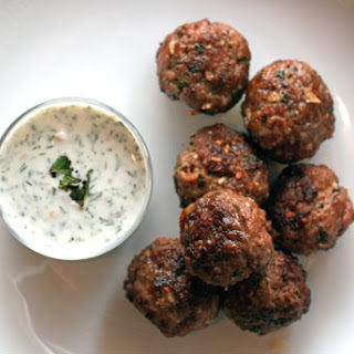 Köfte Meatballs with Haydari