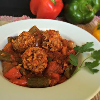 Italian Porcupine Meatballs {with added veggies}.
