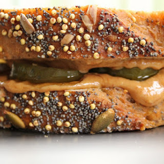 Peanut Butter and Pickle Sandwich.