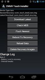 CWMR Touch Installer Screenshot 1