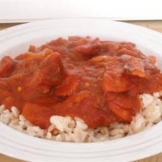 Portuguese Chourico, Beans, and Rice.