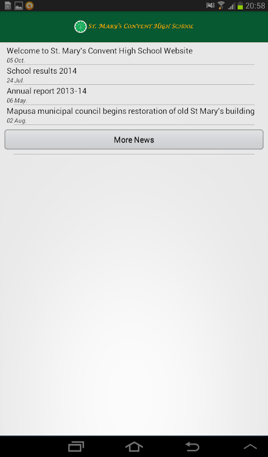 St. Mary's Convent High School- screenshot