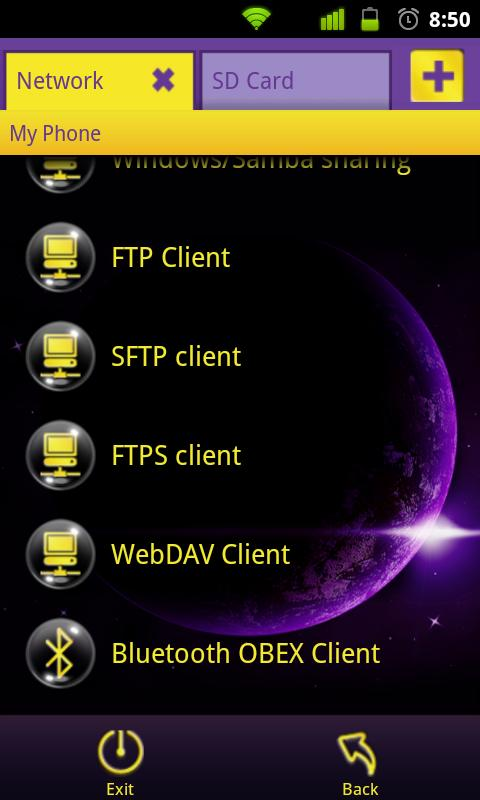 File Expert Dream Bubble Theme - screenshot