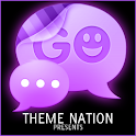 GO SMS Theme Purple Neon icon
