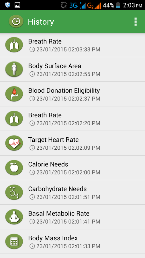 BodyTruth Health Calculator- screenshot