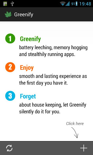 Greenify Root apk home