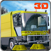Street Sweeper Services Truck