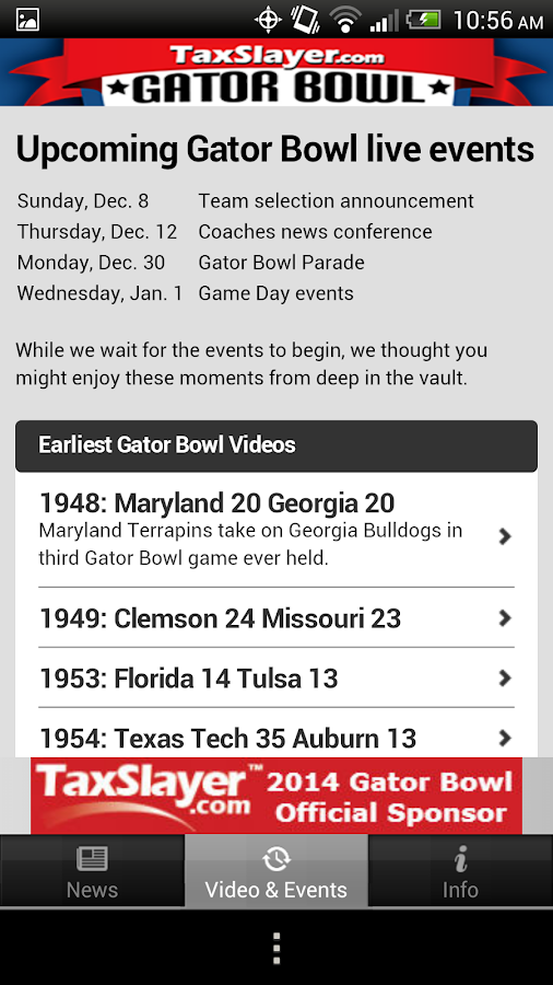 Gator Bowl - screenshot