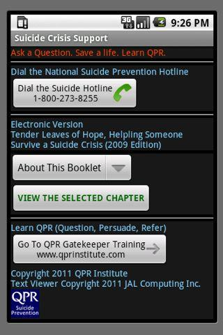 Suicide Crisis Support - screenshot
