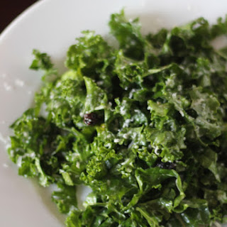 Raw Kale Salad with Lemon, Pecorino, and Currants