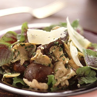 Warm-Mushroom Salad with Pistou Vinaigrette