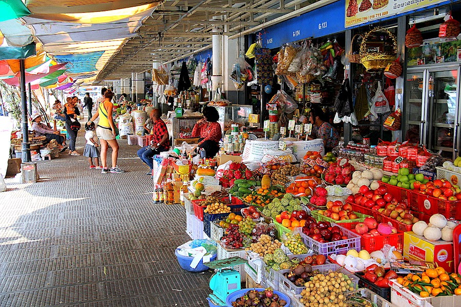 Fruit stall in Phnom Penh Central Market by Leong Jeam Wong - City,  Street & Park  Markets & Shops