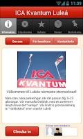 Screenshot of ICA Kvantum Luleå