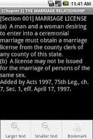 Screenshot of Texas Family Code