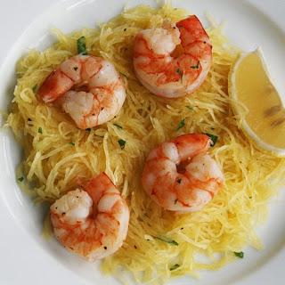 Roasted Shrimp Over Spaghetti Squash Recipe