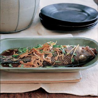 Steamed Sea Bass with Shredded Pork.