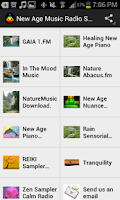 Screenshot of New Age Music Radio Stations