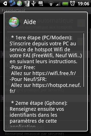 FreeHotSpot - screenshot