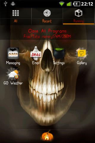 Halloween GO Launcher EX Theme - screenshot