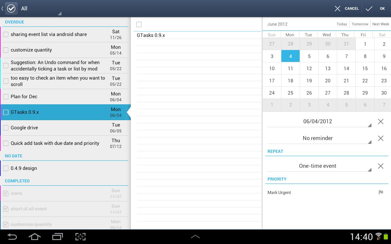 GTasks: Todo List & Task List Screenshot 7