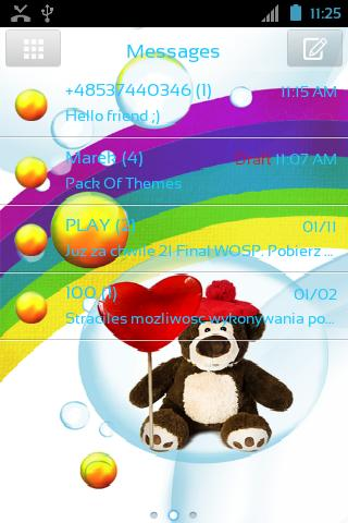 GO短信Pro的可愛的泰迪熊