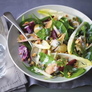 Mackerel Salad With Horseradish Crème Fraîche.