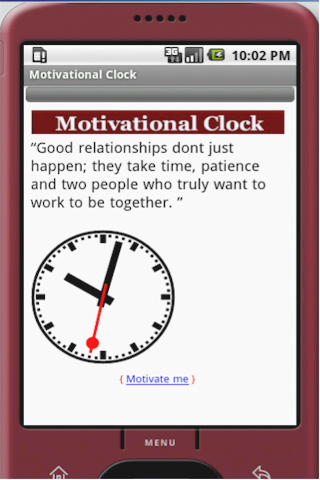 Motivational Clock