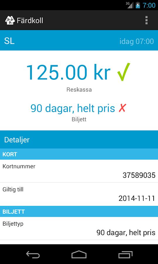 Färdkoll (SL) - screenshot