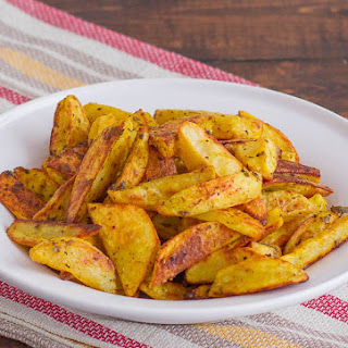 Crispy Indian Spiced Potato Wedges.