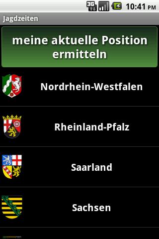 Jagdzeiten.de App- screenshot