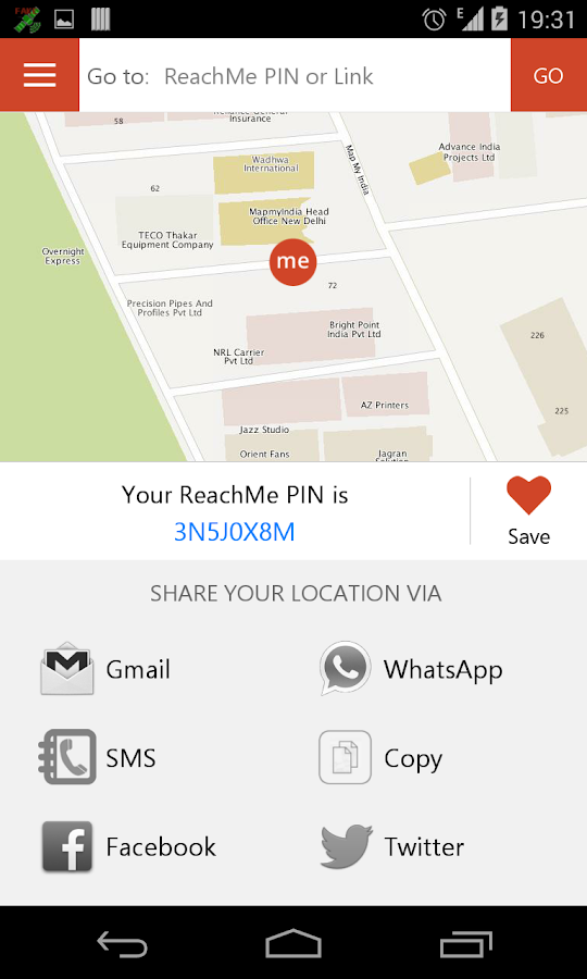 ReachMe by MapmyIndia - screenshot