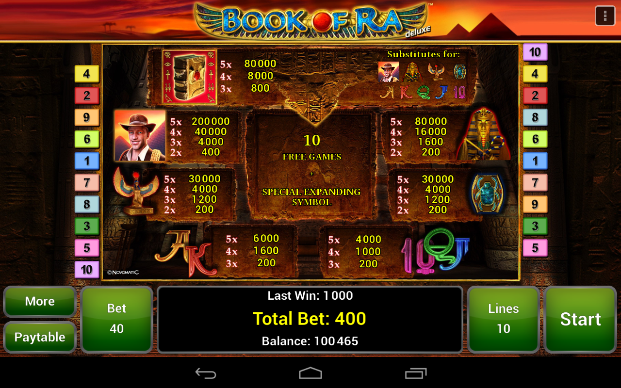 book of ra app android download