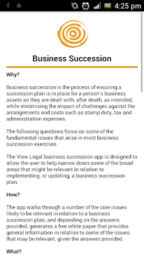 View Legal Business Succession