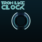 Tron Like Clock Widget